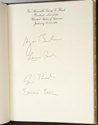 George W. Bush, Laura Bush, George H. W. Bush, and Barbara Bush, January 17–20, 2001
