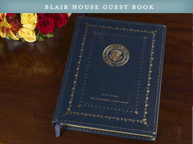 Blair House Guest Book